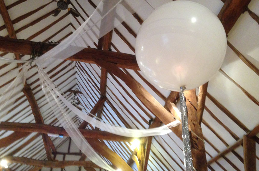 Balloons for Weddings in Hertfordshire, Bedfordshire and South Cambridgeshire